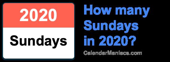 Sundays in 2020